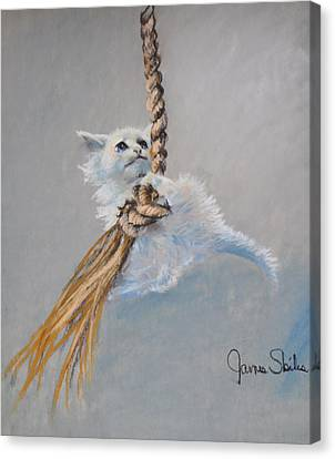 Hanging On Canvas Print by James Skiles
