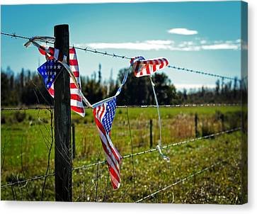 Democratic Canvas Print - Hanging On - The American Spirit By William Patrick And Sharon Cummings by Sharon Cummings
