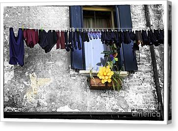 Hanging Out To Dry In Venice 2 Canvas Print by Madeline Ellis