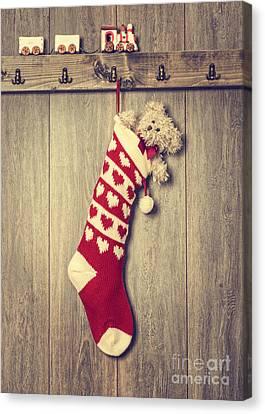 Hanging Stocking Canvas Print by Amanda Elwell