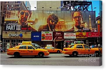 Hangover Movie Poster In New York City Canvas Print by Nishanth Gopinathan