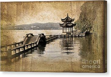 Hangzhou Lake Canvas Print by Delphimages Photo Creations