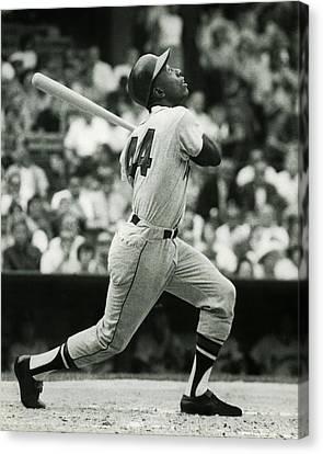 Negro Leagues Canvas Print - Hank Aaron by Retro Images Archive