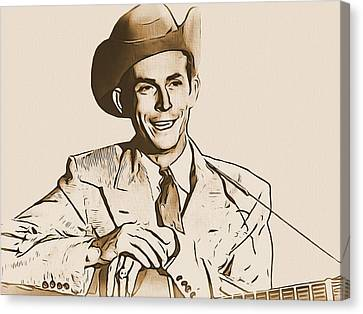 Hank Williams Canvas Print by Dan Sproul