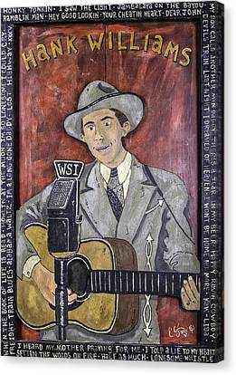 Hank Williams Canvas Print by Eric Cunningham