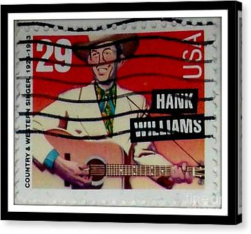 Hank Williams Postage Stamp Canvas Print