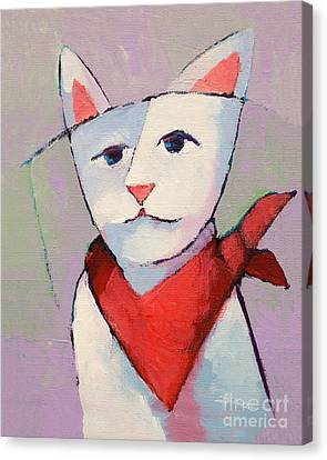 Hanky Cat Canvas Print by Lutz Baar