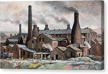 Hanley Pot Works Canvas Print by Anthony Forster