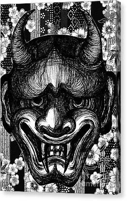 Hannya Canvas Print by Akiko Okabe