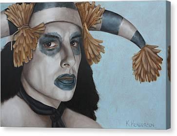 Hano Clown By K Henderson  Canvas Print by K Henderson