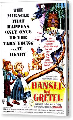 Hansel And Gretel, Us Poster, 1954 Canvas Print by Everett