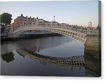 Ha'penny Bridge Dublin Ireland Canvas Print by Betsy Knapp