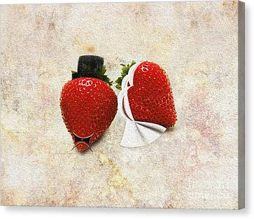 Happily Berry After Wedding Day Canvas Print by Andee Design