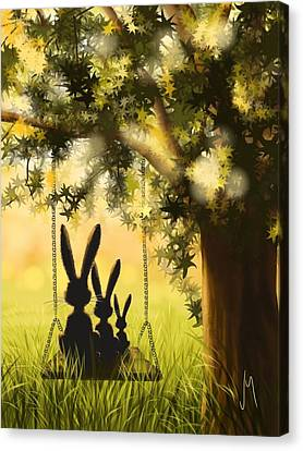 Happily Together Canvas Print by Veronica Minozzi