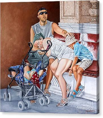 Happiness In Venice - Felicidad En Venecia Canvas Print