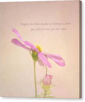 Happiness Canvas Print by Kim Hojnacki