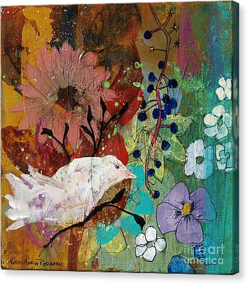Canvas Print featuring the painting Happiness by Robin Maria Pedrero