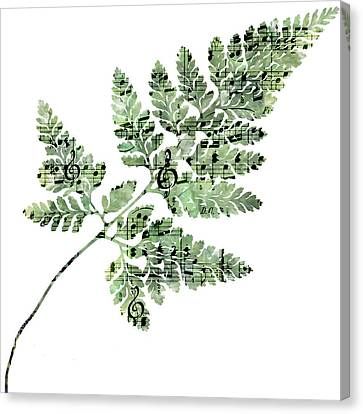 Happy Adventure Music Fern Canvas Print