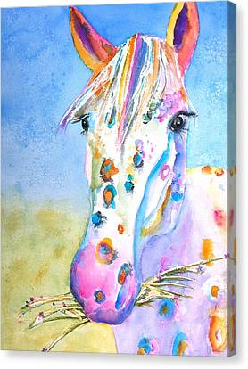 Happy Appy Canvas Print by Carlin Blahnik