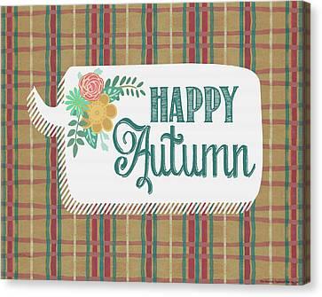 Happy Autumn Canvas Print by Jo Moulton
