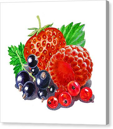Happy Berry Mix Canvas Print