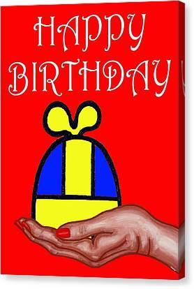 Happy Birthday 2 Canvas Print by Patrick J Murphy