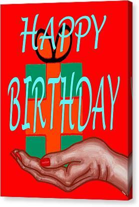 Happy Birthday 3 Canvas Print by Patrick J Murphy