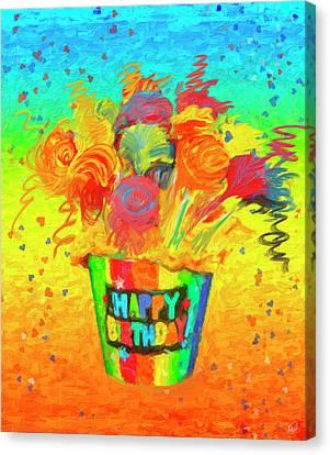 Happy Birthday Canvas Print by Angela A Stanton
