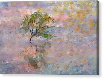 Happy Birthday Good Old Tree Canvas Print by Angela A Stanton