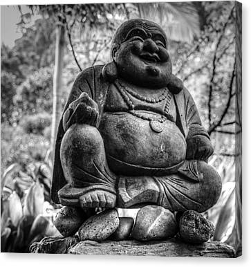 Canvas Print featuring the photograph Happy Buddha by Cathy Donohoue