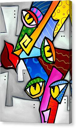 Happy By Fidostudio Canvas Print by Tom Fedro - Fidostudio