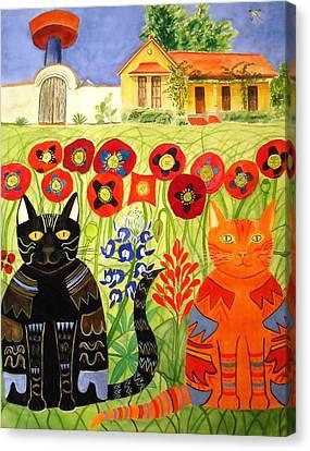 Happy Cats Canvas Print