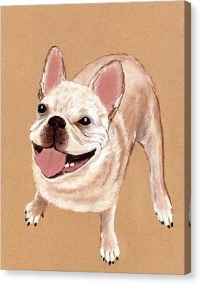 Happy Dog Canvas Print by Anastasiya Malakhova