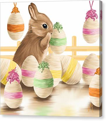 Happy Easter 2013 Canvas Print by Veronica Minozzi