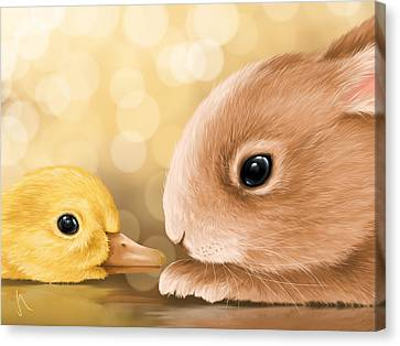 Happy Easter 2014 Canvas Print by Veronica Minozzi