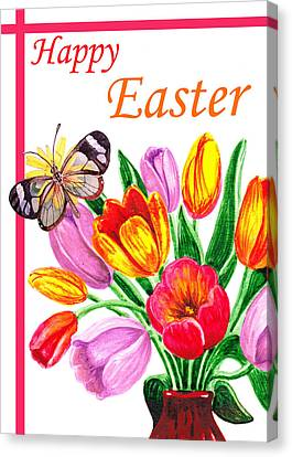 Happy Easter Butterfly Canvas Print by Irina Sztukowski