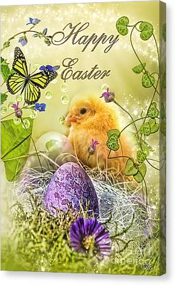 Happy Easter Canvas Print by Mo T
