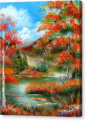 Happy Ever After Autumn  Canvas Print by Patrice Torrillo