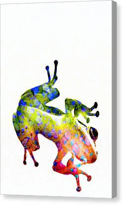 Happy Frog Canvas Print by Darla Wood