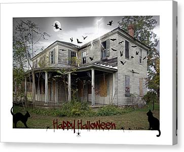Happy Halloween Canvas Print by Brian Wallace