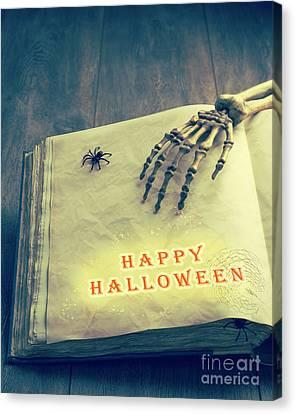 Happy Halloween Canvas Print by Amanda Elwell