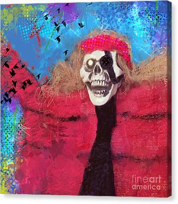 Happy Halloween Canvas Print by Elena Nosyreva