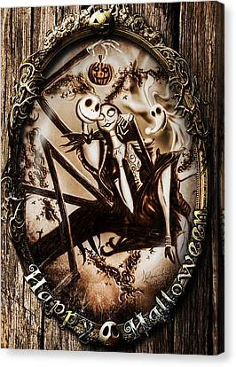 Happy Halloween IIi Sepia Version Canvas Print by Alessandro Della Pietra