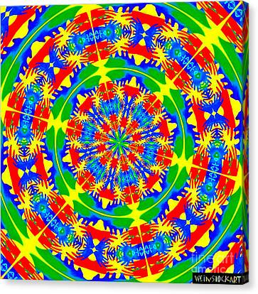 Happy Hands Mandala Canvas Print by Linda Weinstock