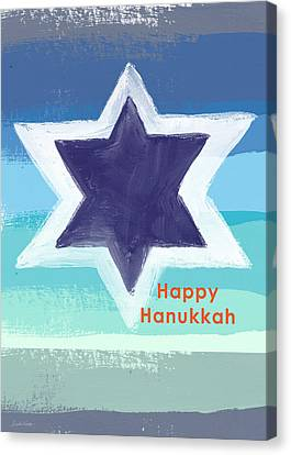 Happy Hanukkah Card Canvas Print
