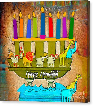 Happy Hanukkah Canvas Print by Marvin Blaine