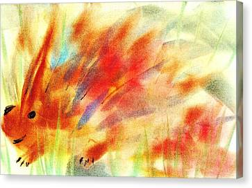Happy Hedgehog Canvas Print