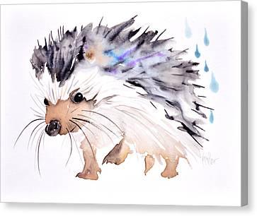 Happy Hedgehog Canvas Print by Krista Bros