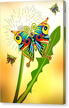 Happy Hippie Butterflies Canvas Print by Bob Orsillo