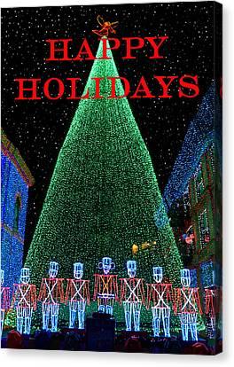 Happy Holidays Canvas Print by David Lee Thompson
